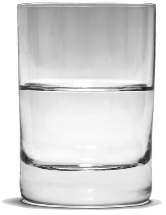 Image result for glass half empty and white